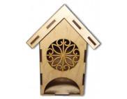 """Домик для чайных пакетиков для декора (фанера) """"ВИТРАЖ"""" 150х105х230мм"""