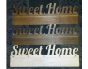 """Вешалка для декора (фанера 6мм) """"Sweet Home"""" 5 крючков 40х13см"""