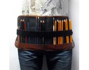 Фартук-пояс для кистей и карандашей 38 ячеек 48х20см на ремне 46см