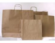 Пакет бумажный с витыми бумажн. ручками КРАФТ  24х11х32см