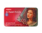 """*Набор пастельных каранд.""""Pastel Pencils"""" Derwent в мет.короб. 36цв"""