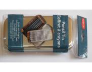 Пенал для карандашей двухуровневый металлический(вместим. 33каранд. d9мм или 42каранд.d8)