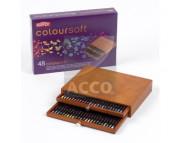 """Набор цв.каранд.""""Coloursoft"""" в дерев.ящике  48цв."""