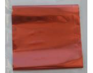 RR Фольга метал.на плёнке КРАСНАЯ  0,1м2 в зип пакете