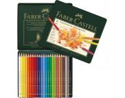 *Набор цв.каранд. Faber-Castell в метал.короб. 24цв /110024