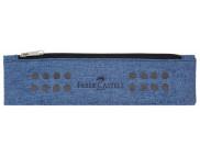 Пенал тканевый на моолнии и резинке 5,5х21,5 см СИНИЙ /573151
