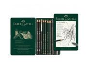 "Набор графита ""Pitt Castell"" Faber-Castell 11предм. в метал.короб./ 112972"
