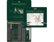 "Набор графита ""Pitt Castell"" Faber-Castell 19предм. в метал.короб./ 112973"