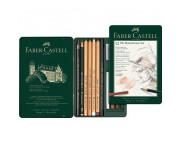 "Набор графита ""Pitt Monochrome"" Faber-Castell 12предм. в метал.короб./ 112975"
