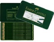 Набор карандашей графитных Faber-Castell 2H-8B в мет.короб. 12шт./119065