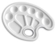 Палитра пластиков.белоснежная овал №1 16,3х22.5см