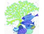 """R РАЗБИРАТЬ 11.2 Салфетка 25х25см (20шт) """"Рыбы, раковины и водоросли"""" бело-синий"""