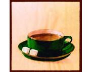 """R РАЗБИРАТЬ 9.3 Салфетка 33х33см (20шт) """"Чашка кофе"""" красный"""