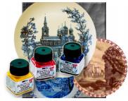 Краска по фарфору и керамике на водн.осн.(обжиг160*С) Hobby Line Metallic 20мл  ЗОЛОТО