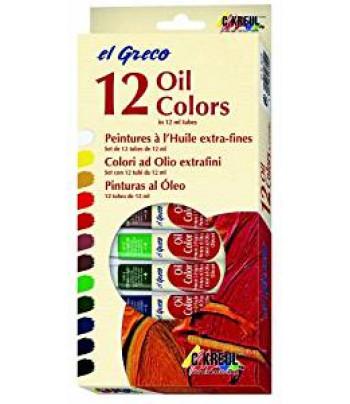 "Н-р масл.красок ""El Greco"" в картон короб.(12цвх12мл)"