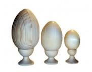 Яйцо на круглой подставке(бук) разносортные около h120мм