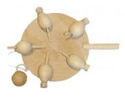 Игрушка подвижная для декора (бук) КУРОЧКИ d130мм