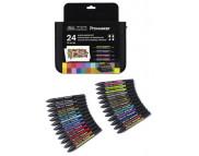 "Набор ""ProMarker W&N"" 24шт(12 ProMarker+6 Brushmarker+3 Metallic Marker+3 Neon Marker) MIX"