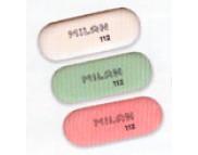 """Ластик""""Milan""""овальный (красный,зелёный,белый) 112 (каучук для В-8В) 73х28х9.5мм"""