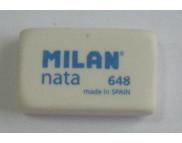 """Ластик""""Milan""""NATA 648(бел.пластик""""Milan""""для НВ) 31.5х19.5х9.5мм"""