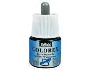 *Жидкая акварель (концентрат) COLOREX 45мл ТУРЕЦКИЙ ГОЛУБОЙ