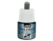 *Жидкая акварель (концентрат) COLOREX 45мл ЗЕЛЕНЫЙ БУТЫЛОЧНЫЙ