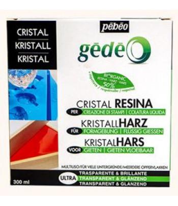 Двухкомпонентная эпоксидная глянцевая прозрачная глазурь CRISTAL BIO GEDEO 300мл