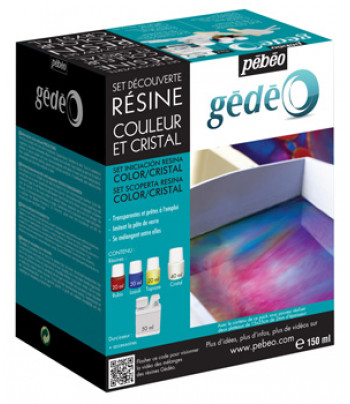 Набор двухкомпонент.эпоксидн.цветн.глазури GEDEO АССОРТИ(3цв.х20мл :рубин.топаз.ляпис синий+40мл прзрачный )