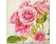 """R РАЗБИРАТЬ 27.6 Салфетка 33х33см (20шт) """"Розовые розы"""""""