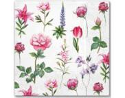 """R РАЗБИРАТЬ 27.7 Салфетка 33х33см (20шт) """"Мелкие садовые цветы"""""""