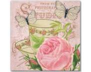 """R РАЗБИРАТЬ 9.4 Салфетка 33х33см (20шт) """"Утренний чай.и  роза"""""""