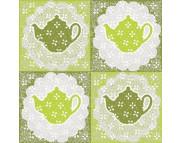 "R РАЗБИРАТЬ 9.4 Салфетка 33х33см (20шт) ""Чай"" зеленый"