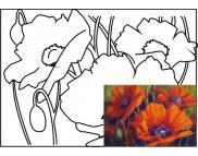 30х40 Холст на ДВП  ХЛОПОК, акрил.грунт, с рисунк.под раскраску Натюрморт  №9