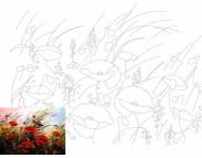 30х40 Холст на ДВП  ХЛОПОК, акрил.грунт, с рисунк.под раскраску Пейзаж №9