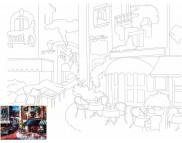 30х40 Холст на ДВП  ХЛОПОК, акрил.грунт, с рисунк.под раскраску Пейзаж №13