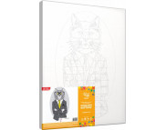 "Н-р живопись по контуру ""Fashion Cat""(холст/подрамн.35х45см+н-р акрил красок+кисть+пошагов.инструкция)"