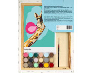"Н-р живопись по контуру ""Крутой жираф""(холст/подрамн.35х45см+н-р акрил красок+2кисти+инструкц.)"