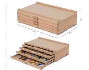 Пенал-органайзер (бук) для пастели и карандашей 4ящ.40х25,3х6см