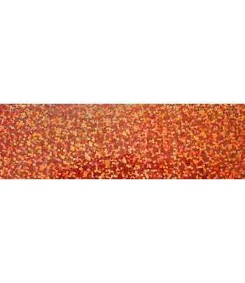 RR Декоративная пленка для аппликаций на текстиле 9х23см голографич.точки МЕДЬ