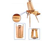 Этюдник буковый  с деревянными ножками с выдвижным ящиком ,580х350х140мм