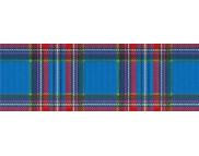 R п Картон дизайнерский цветной 300г 49,5х68см ШОТЛАНСКАЯ КЛЕТКА КРАСНО-СИНЯЯ