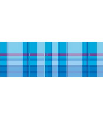 """RR п Картон дизайнерский двусторонний  """"Vichy"""" 300г 20х30см  мотив КЛЕТКА ГОЛУБОЙ"""