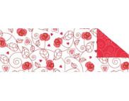 """R п Картон дизайнерский двусторонний  """"Поэзия"""" 300г 49,5x68см БЕЛЫЙ мотив ЦВЕТОЧНЫЙ ОРНАМЕНТ"""