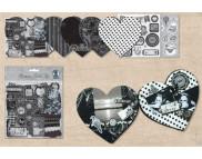 """Набор для альбома в форме сердечка """"ШЕББИ ШИК""""(6листов+3 метал.кольца+2 высечки+инструкция)"""