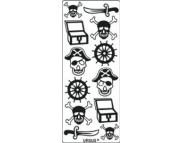 "Наклейка 10х23см ""Пираты"" СЕРЕБРО"