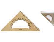 Треугольник пластиковый бесцветный  45/177