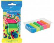"""Пластилин """"Неон"""" Kooh-i-noor цветной 5цвх20гр в полиэтилен. упаковке"""