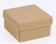 """Бельё картонное: Коробка """"Премиум"""". Код М0003-о9  90х90х50мм Гофрированная КРАФТ"""