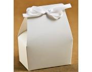 """Бельё картонное: Коробка """"Бонбоньерка - принцесса"""" №М0020-о9  75х45х90мм БЕЛАЯ;"""