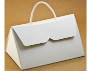 """Бельё картонное: Коробка """"Сумочка"""" № М0005-о2  175х125х98мм БЕЛАЯ"""